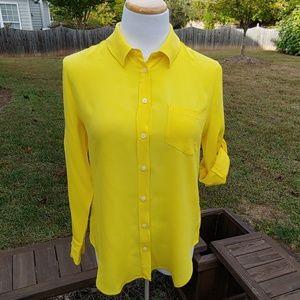 Madewell silk button down blouse